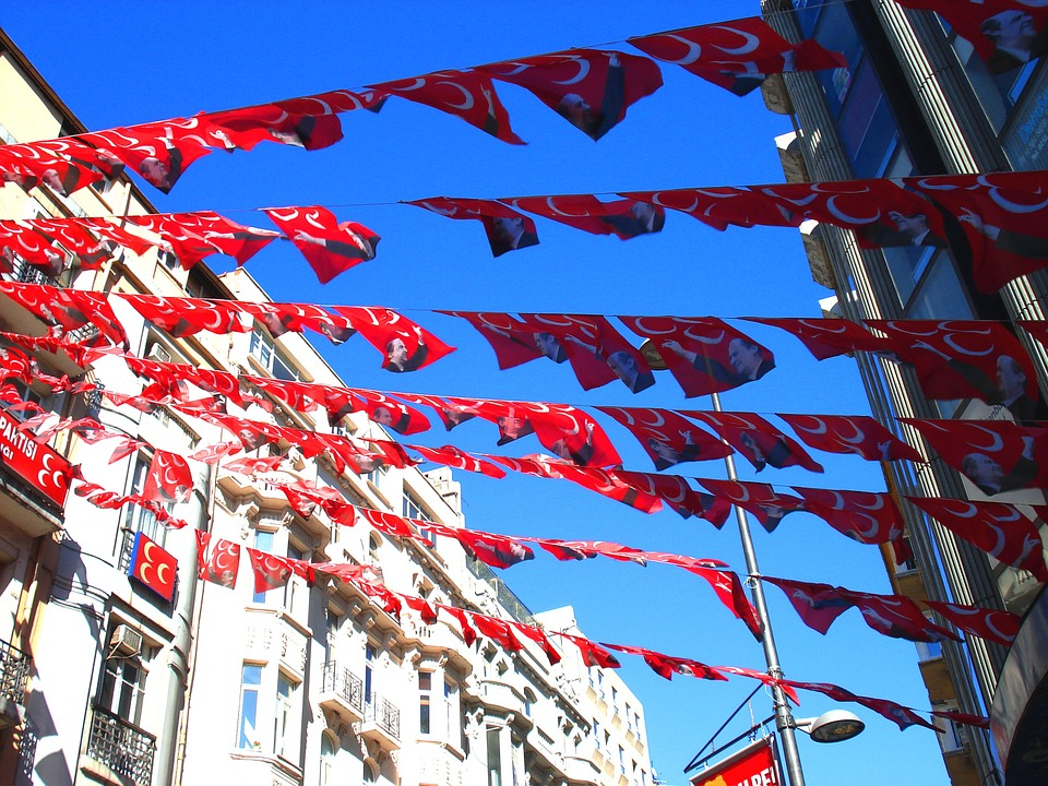 Turkey, Istanbul, Flag, Travel, Canon, Architecture