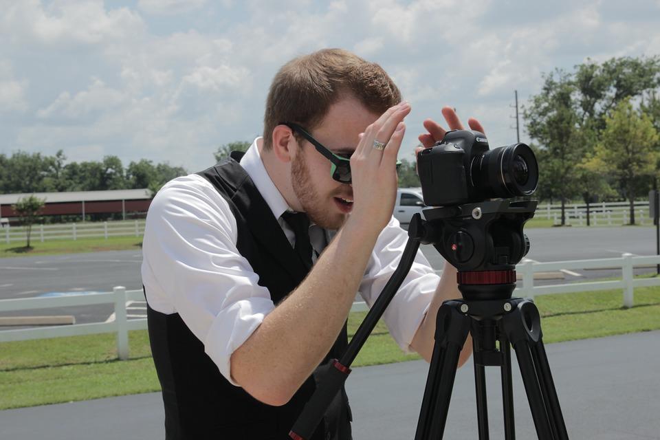 Binoculars, Outdoors, Man, Canon, Wedding