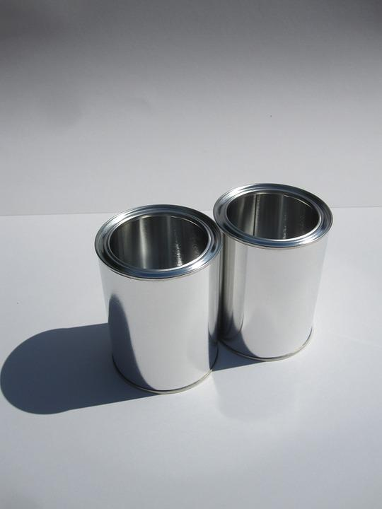 Glance, Cans, Tin, Container, Metal, White, Silver