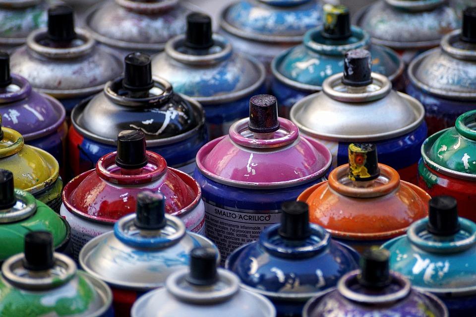 Spray, Cans, Cans Of Paint, Spray Cans, Spray Can