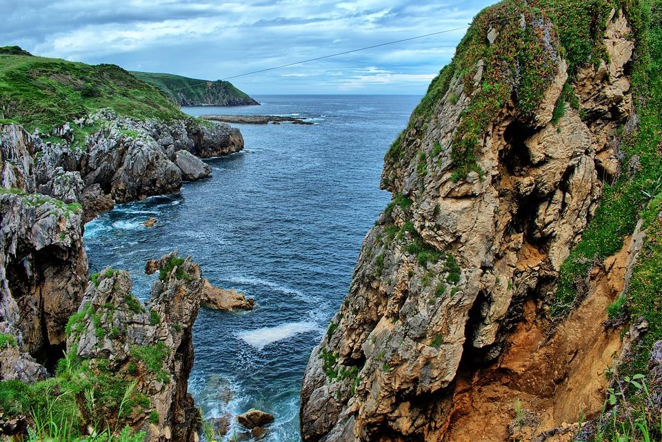 Landscape, Cantabría, Cliff, Spain