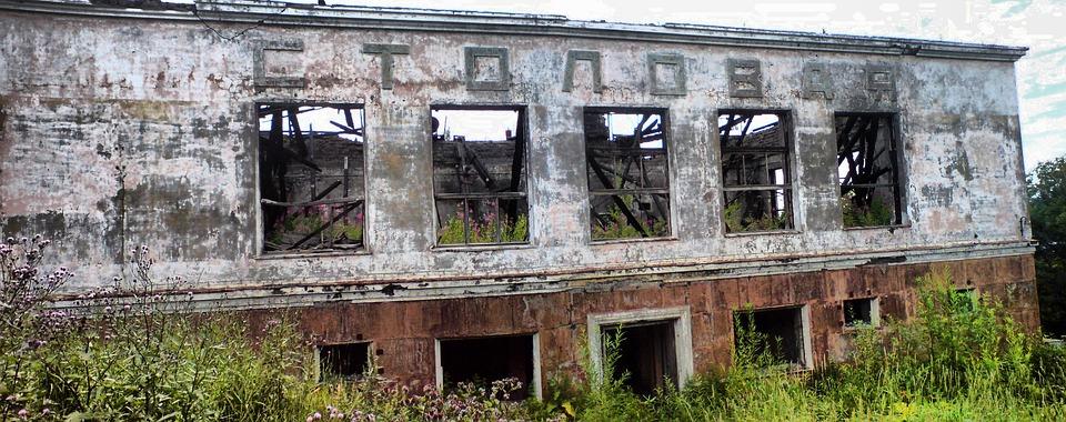 Petropavlovsk, Canteen, Devastation, Russia