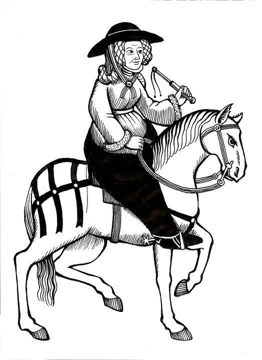 Sketch, Lid, Man, Art, Retro, Chaucer, Canterbury