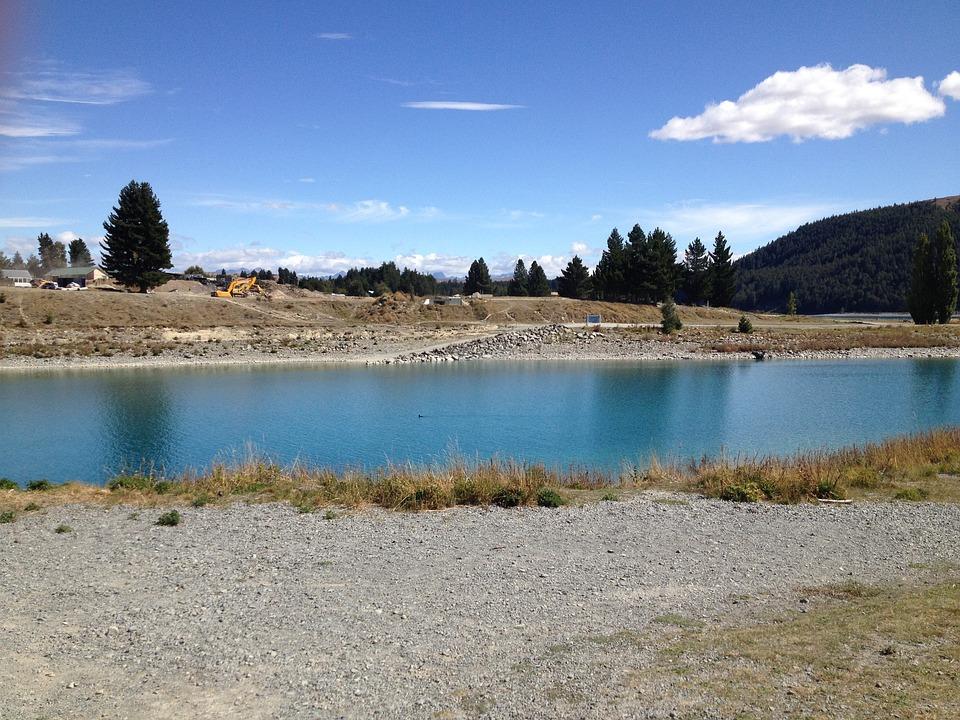 Water, Canterbury, New Zealand, Lake Tekapo, Lake