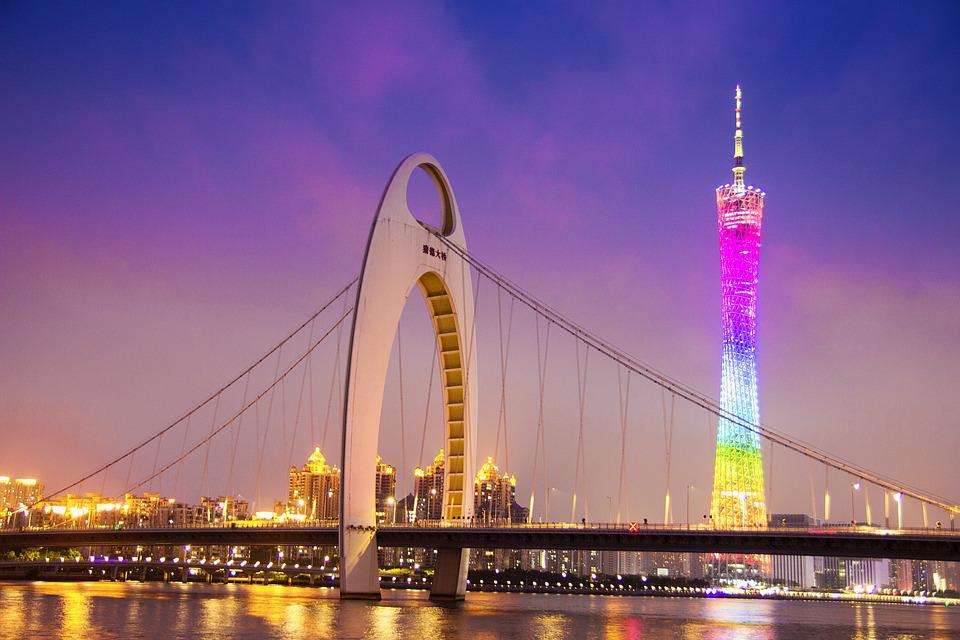 Canton, Canton Tower, Starfish Tower, Liede Bridge