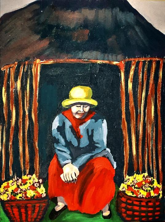 Artwork, Painting, Acrylic Paint, Canvas, Brush Strokes