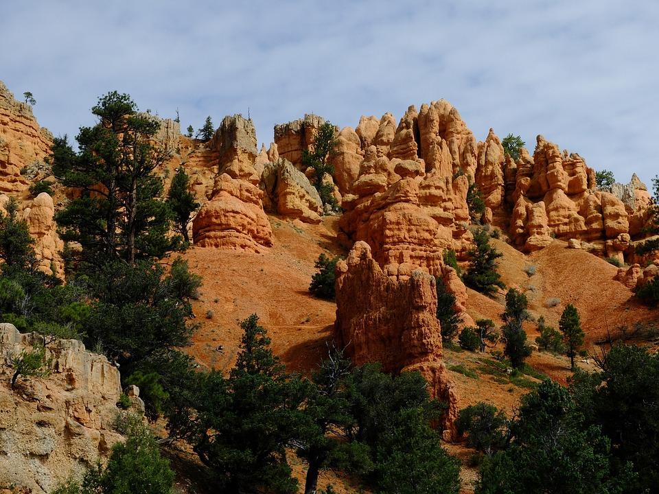Bryce Canyon, Canyon, Landscape, Usa, Cliff, Desert