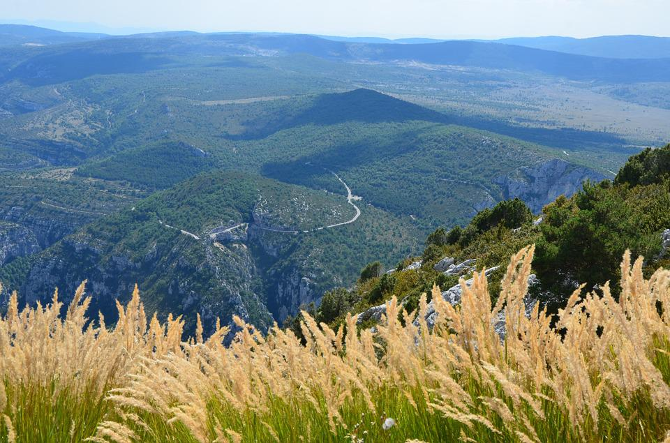 Grasses, Mountain Landscape, Canyon Du Verdun