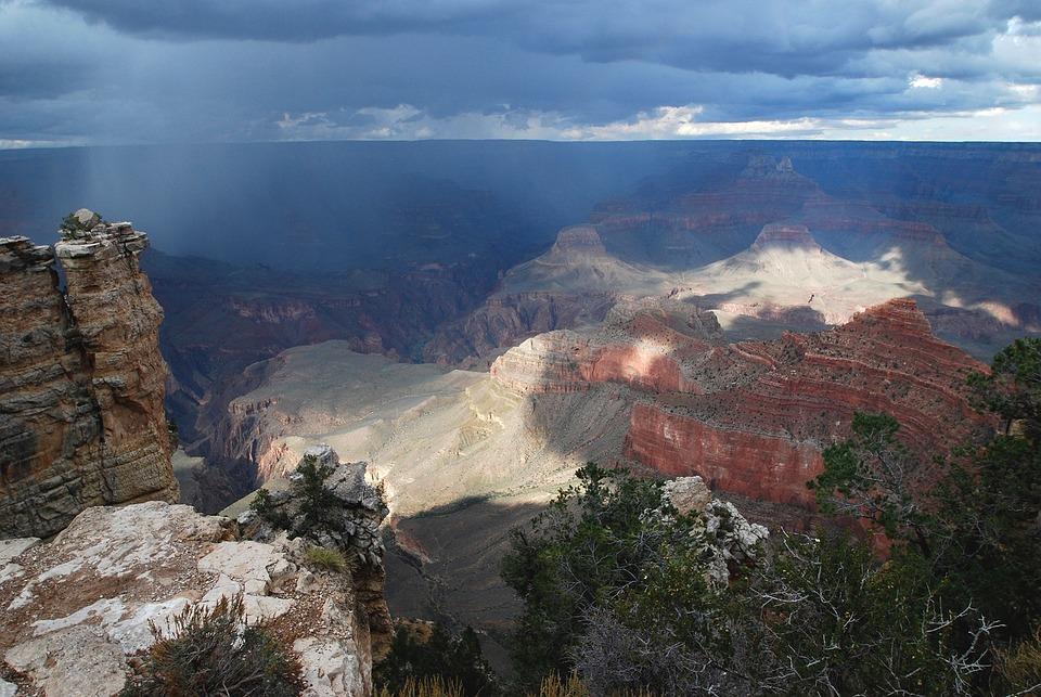 Grand Canyon, Rain, National Park, Canyon, Arizona