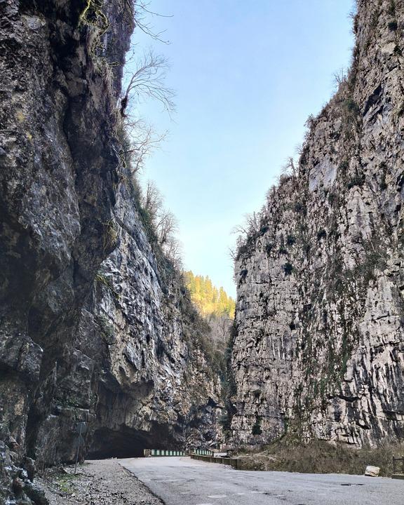 Canyon, Landscape, The Picturesque, Rocks, Nature, Road