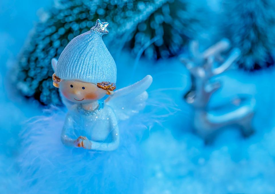 Angel, Figure, Snow, Angel Figure, Wing, Cap, Star
