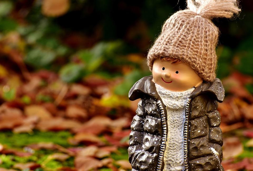 Boy, Figure, Deco, Forest, Autumn, Cold, Cap