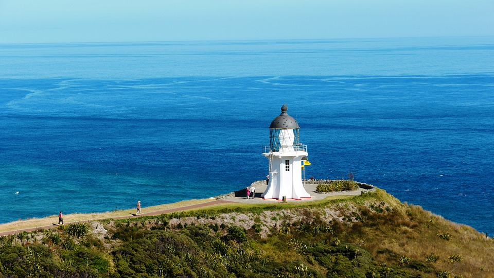 Lighthouse, New Zealand, Cap Reigna