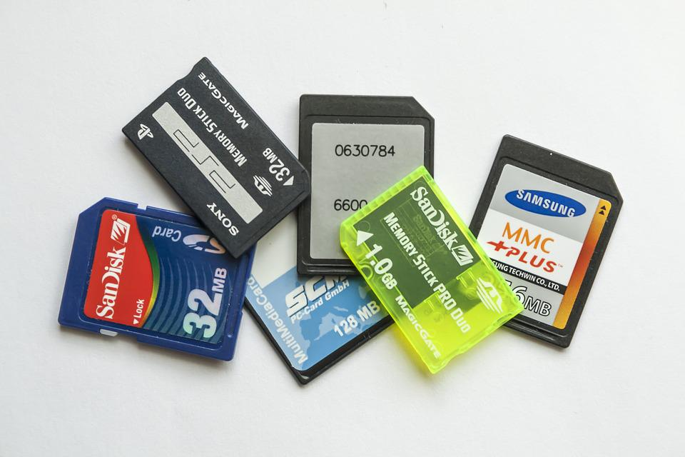 Memory Cards, Memory Stick, Media, External, Capacity