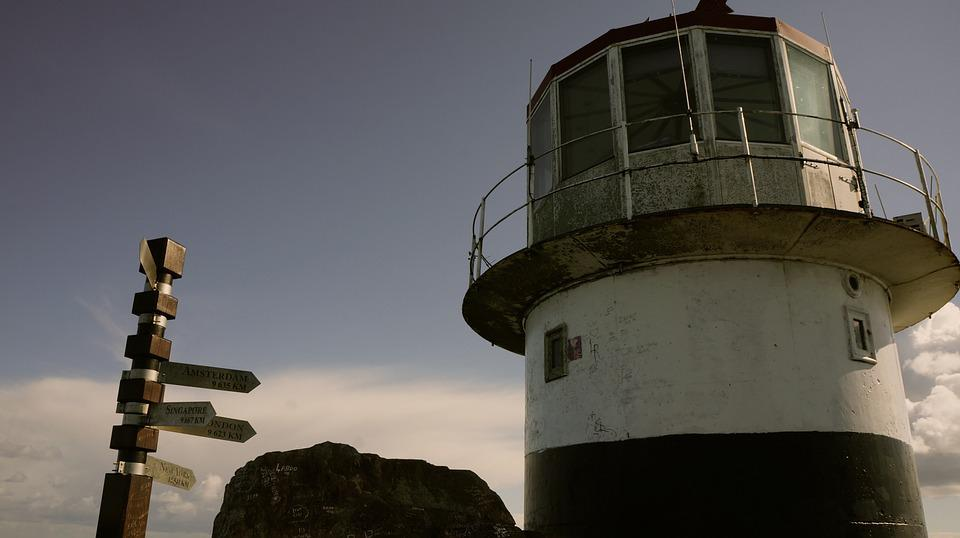 Lighthouse, Cape, South Africa, Africa, Shield
