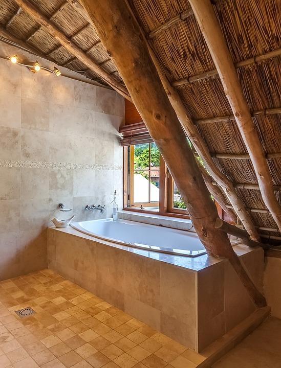 Cape Dutch Bathroom, Bath, Bathtub, Garden View, Window