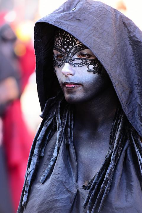 Black, Cape, Hoodie, Mask, Eyes, Festival