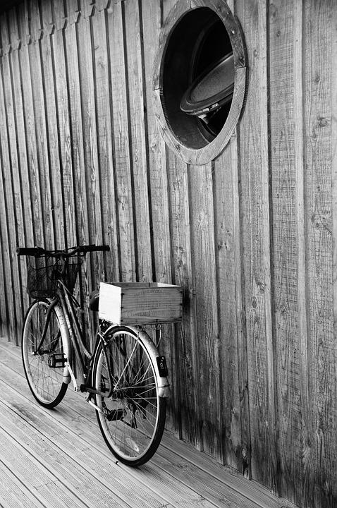 Black, White, Bike, Cape, Ferret, Phone Wallpaper