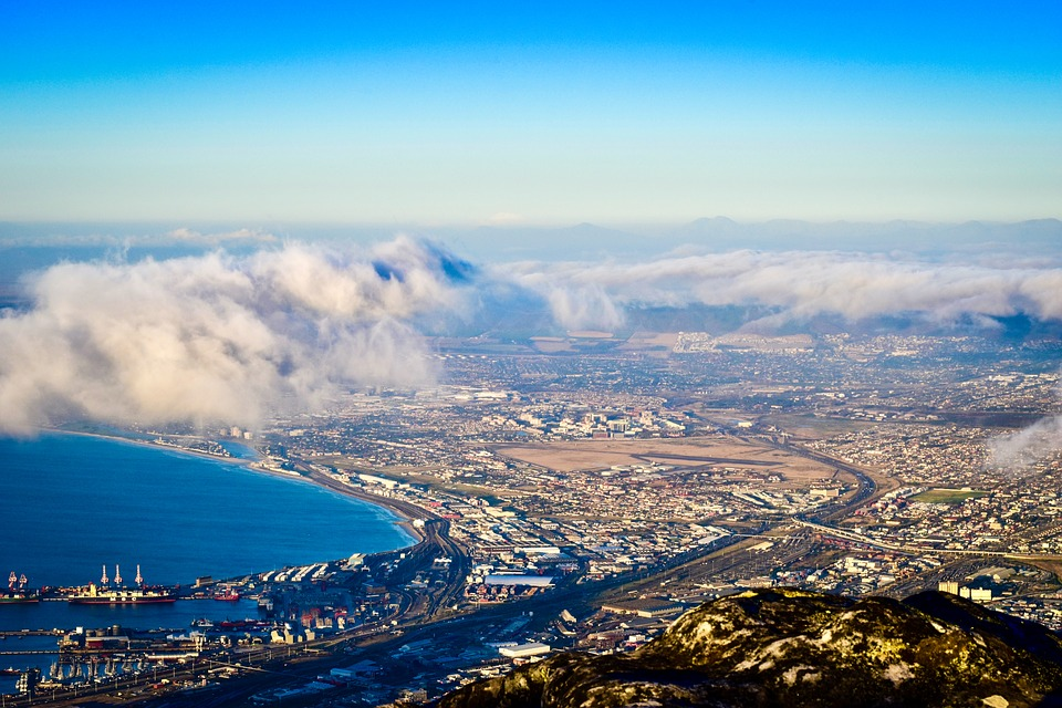 Cape Town, South Africa, Panoramic, Travel, City, Sky