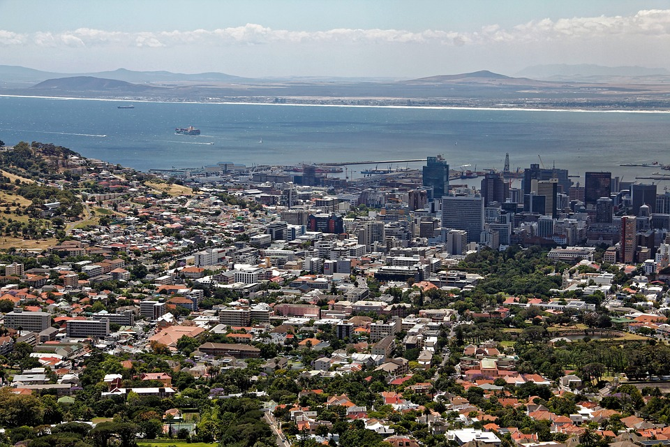 Cape Town, South Africa, City, Table Mountain