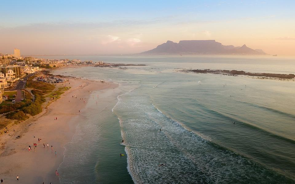 Mountain, Tablemountain, Southafrica, Capetown, Aerial