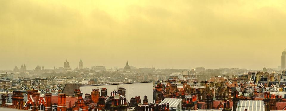 London, Skyline, Smog, Stormy, London Skyline, Capital