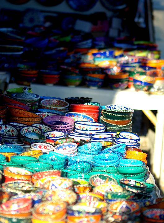 Plate, Cappadocia, Craft, Color, Green, Yellow, Bowl
