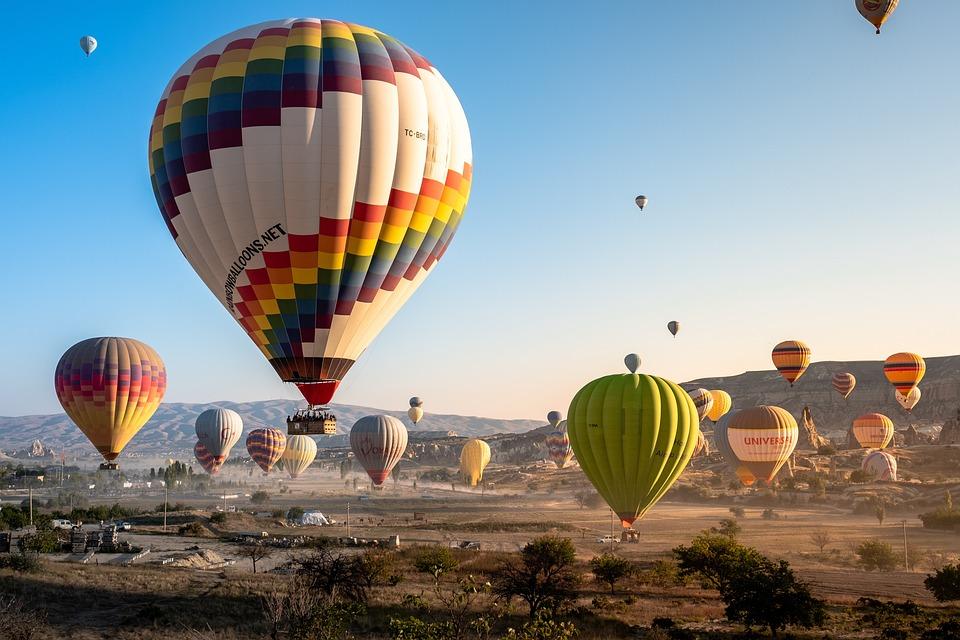 Hot Air Balloons, Dawn, Sunrise, Cappadocia, Balloon