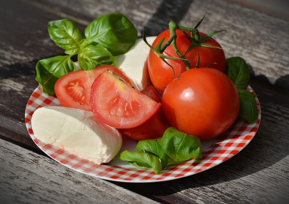 Tomatoes, Caprese, Mozzarella, Basil