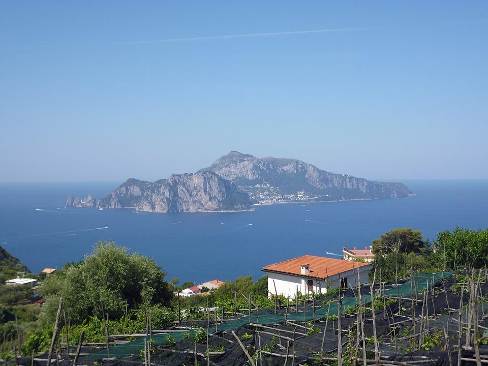 Italy, Capri, Island, Mediterranean, Coast