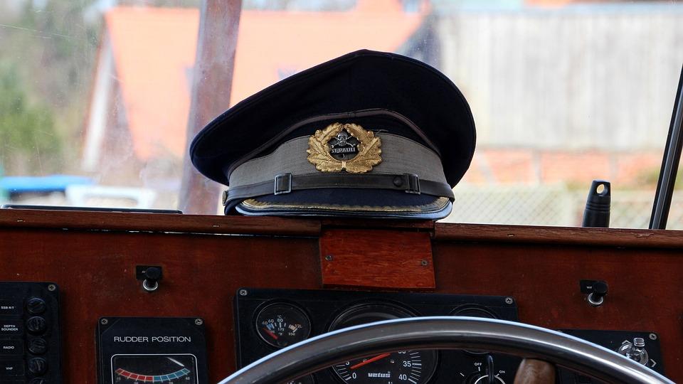 Captain's Hat, Cap, Boot, Ship