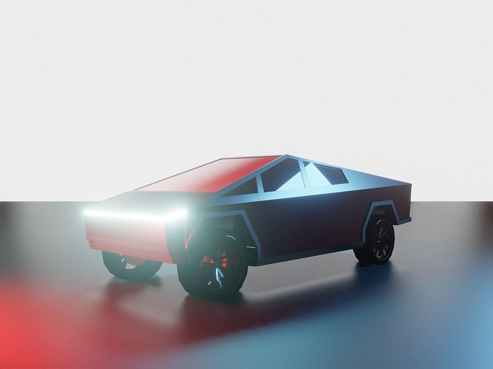 Tesla, 3d, Model, 3d-model, Car, Pickup Truck