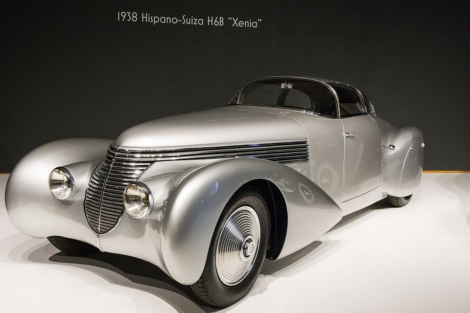 Car, 1938 Hispano-suiza H6b Xenia, Art Deco, Automobile
