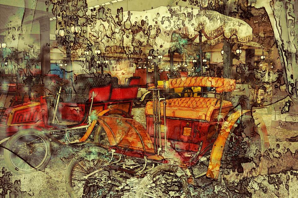 Car, Oldtimer, Colorful, Fantasy, Background