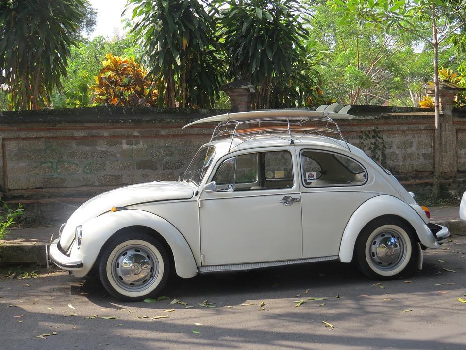 Car, Surfboard, Volkswagen, Classic, Beetle, Automobile