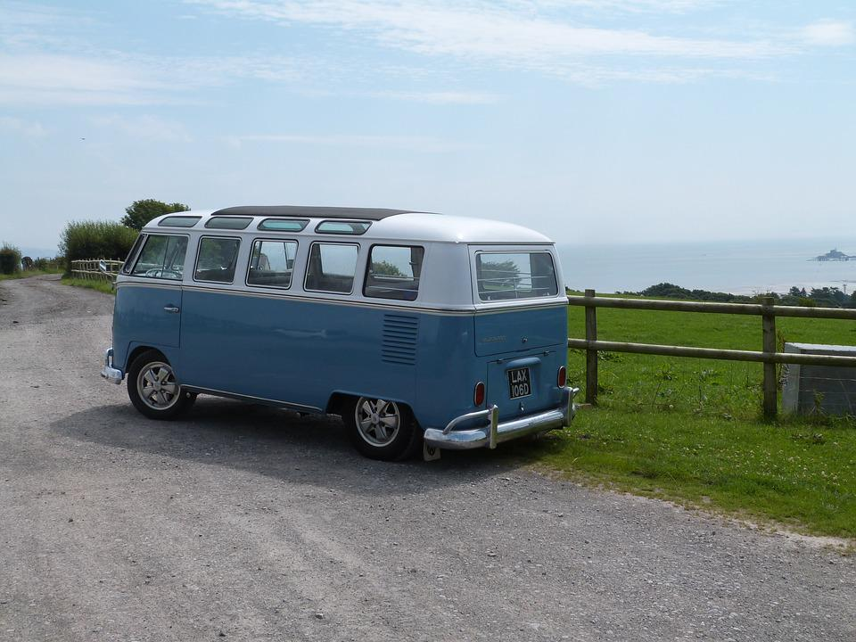 Vw Bus Vehicle Car Van Vintage Travel Retro