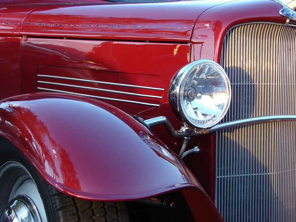 Car, Classic, Ford, Deuce, Coupe, Auto, Retro, Red