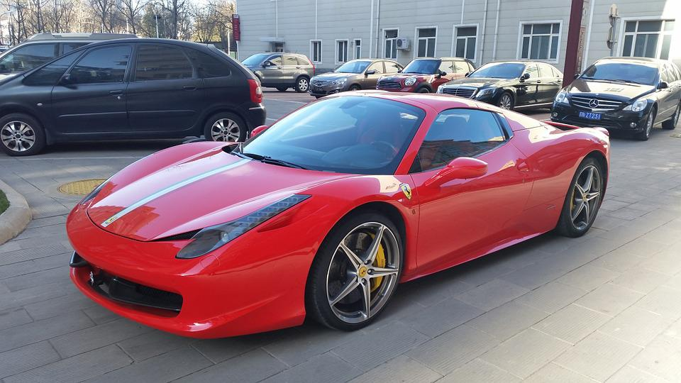 Ferrari, Car, Luxury Car, Sport Car, Red Ferrari