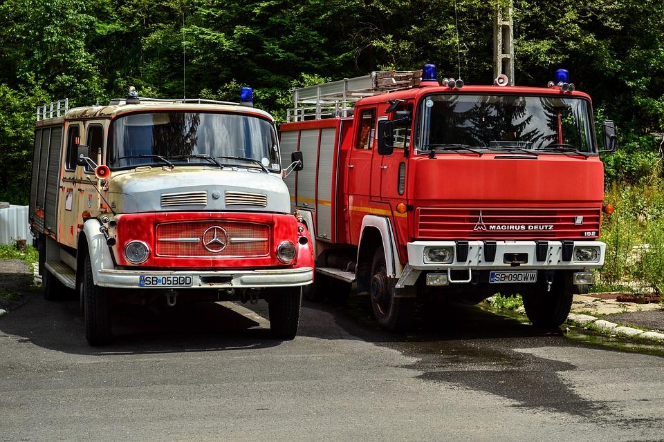 Firefighter, Car, Old, Vehicle, Station