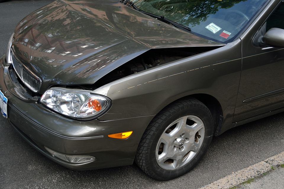 Free Photo Car Hood Crash Crashed Car Damage Dent Accident