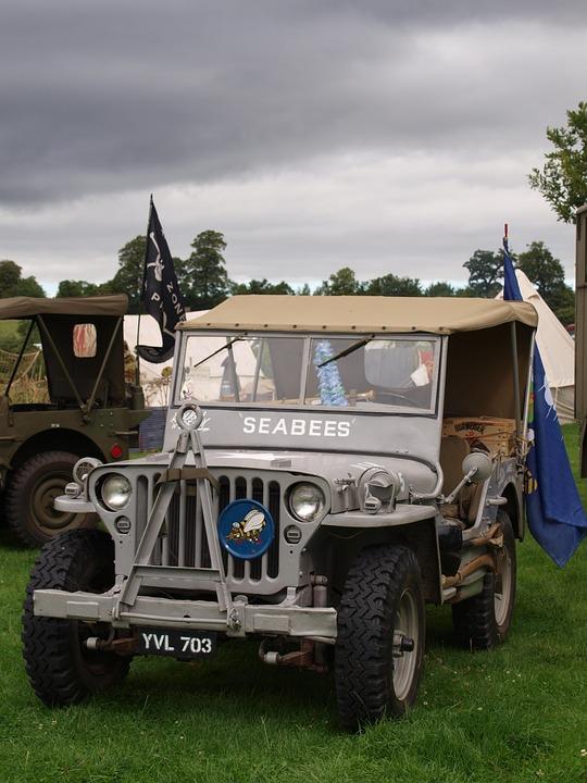 Jeep, Car, Army, Ww2