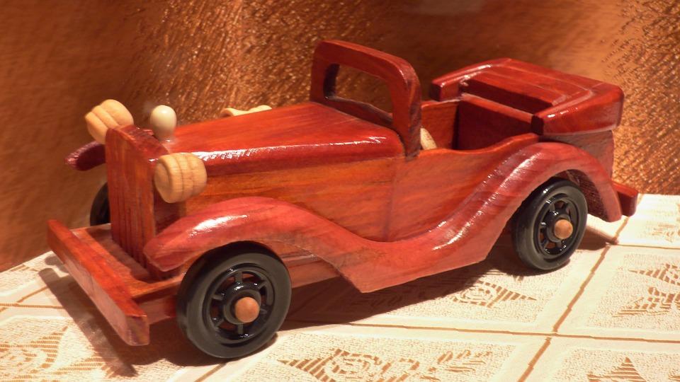Car, Wooden, Model, Decor