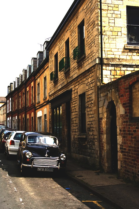 Morris Minor, Car, Street, Terrace, England