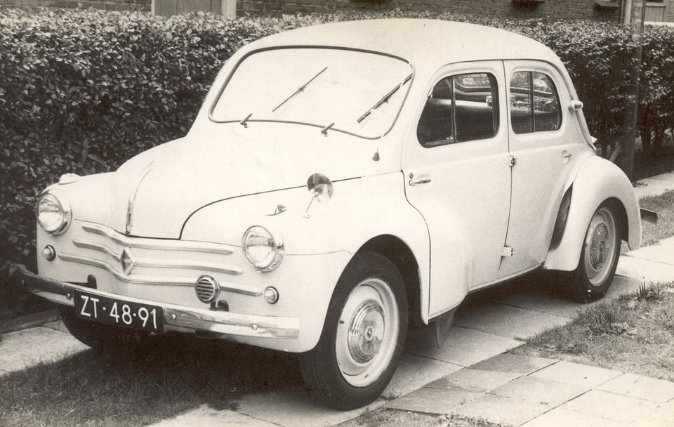 Renault, 1956, Old Car, Car