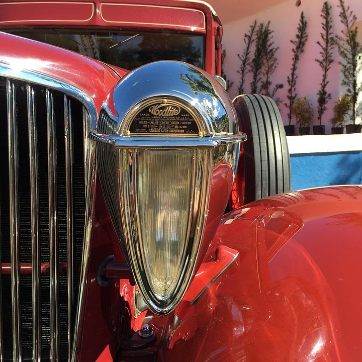 Car, Automobile, Vehicle, Old Car, Lighthouse, Lantern