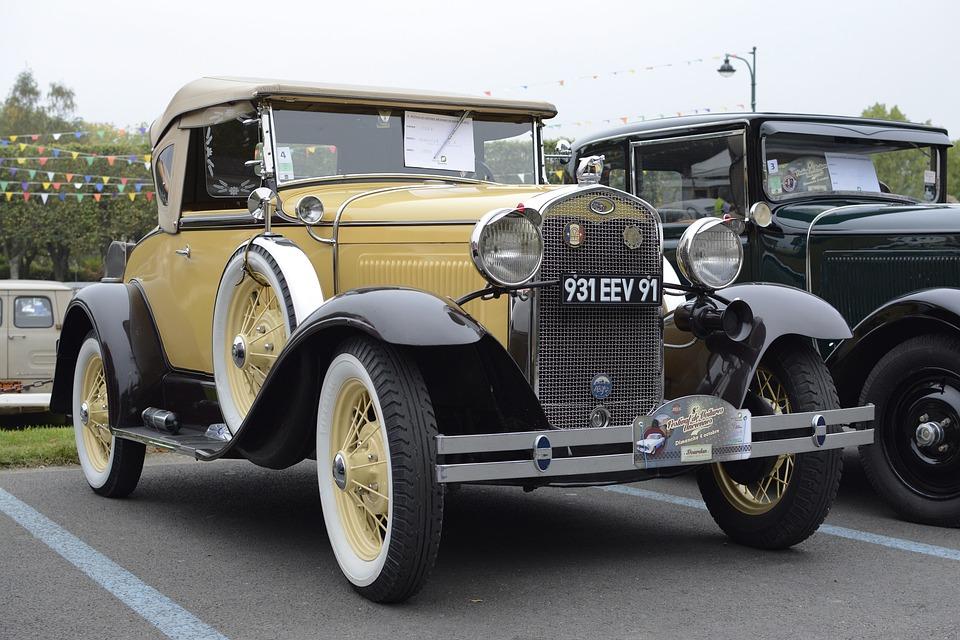 Free photo Car Older Vehicles Vintage Yellow Old Car - Max Pixel