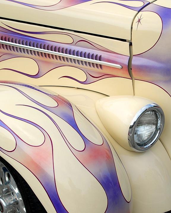 Pin Stripe, Car, Automobile, Vehicle, Artist, Craft