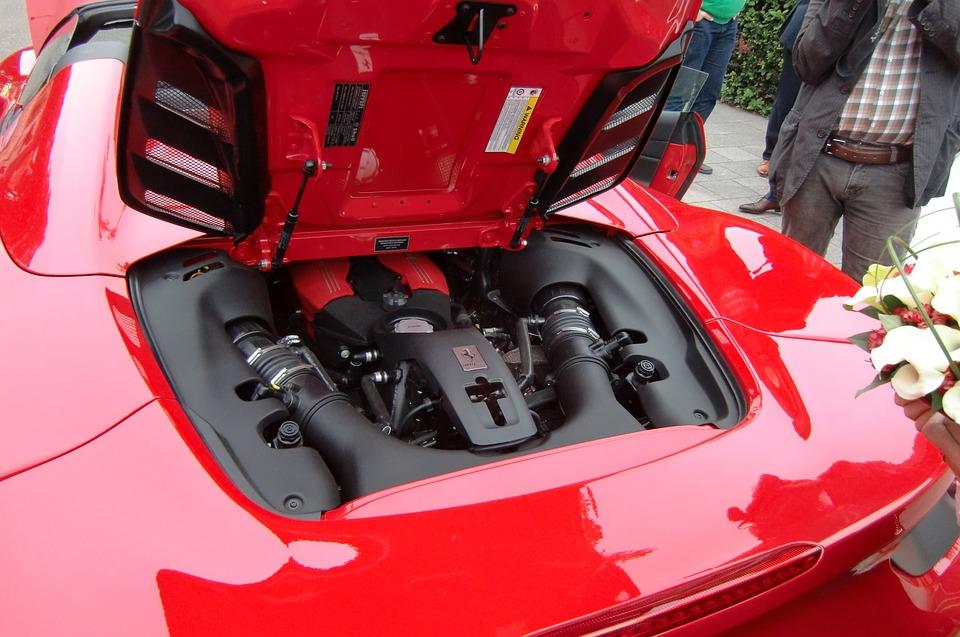 Ferrari, Red, Motor, Power, Car