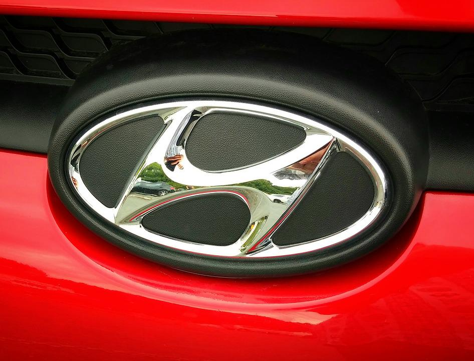 Hyundai, Car, Vehicle, Badge, Emblem, Red