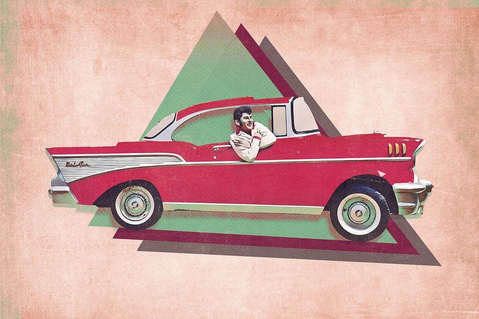 Car, Vehicle, Retro, Transportation, Elvis Presley